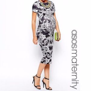 ASOS Maternity Body-Conscious Dress Baroque Print